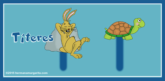 La liebre y la tortuga titeres