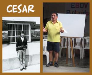 Cesar antes y ahora